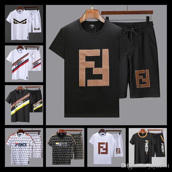 TOP Man Summer Wear Slim Fit Men's Print Tracksuit Men set Luxury Spring Mens Suits Sudaderas Hombre 2 Piece Suits M-XXXL