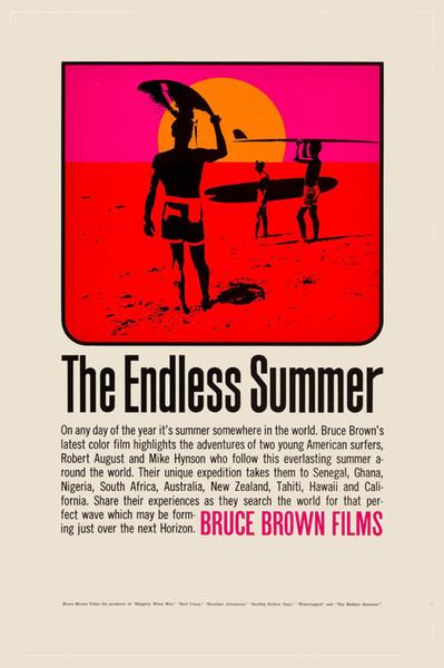 Surf Classic: * ENDLESS SUMMER * Film Art Silk Poster 24x36inch 24x43 pollici