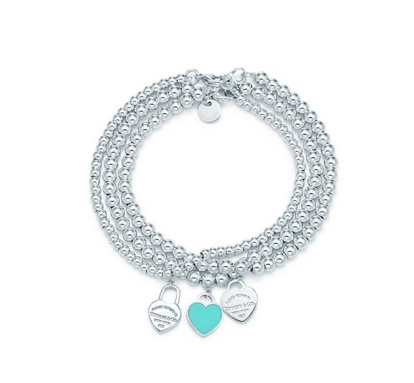 Livraison gratuite Hot argent 925 sterling jewely bijoux tiffany bijoux bracelet collier Le visage tarte style tiff avec la boîte originale