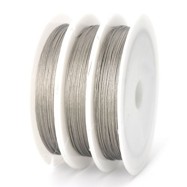 1 Roll 0.3 0.38 0.45 0.5 0.6 0.7 0.8 mm High Quality Steel Wire for Jewelry Making Finding Accessories Supplier Wholesale