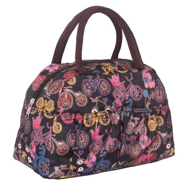 Cheap Fashion 2019 women Lunch Bag cartoon Owl Printed dot Time Portable for Women Picnic Snack women handbag tote