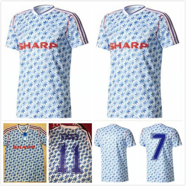 Robson Hughes McClair RETRO MANCHESTER 1990 1992 CAMICIE via United Football 90 92 Vintage pullover di calcio MAN UTD Camiseta Sharpe Paul Ince