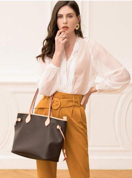 Alta qualidade designer de couro genuíno bolsas da Europa saco de luxo neverfull mulheres designer sacos 3 cores bolsas de grife de luxo Não Carteira
