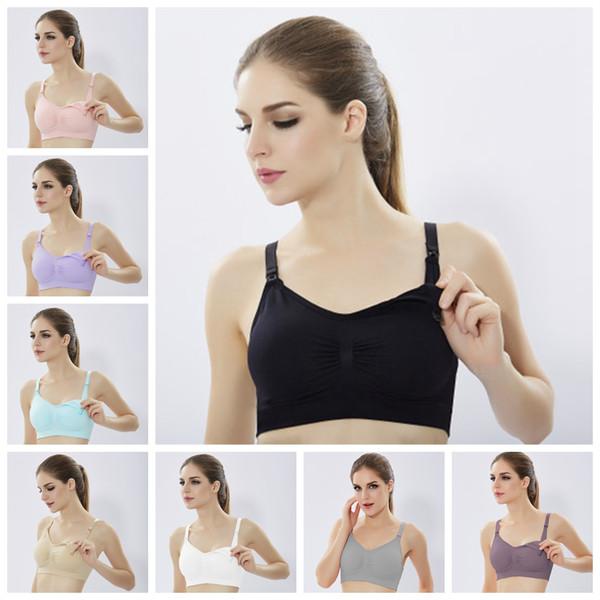 Nursing Breast Feeding Bra Pregnant Postpartum Push Up Bras Anti Drop Crop Tops Elastic No Rims adjustable Seamless underwear AAA2034