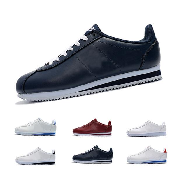 Sonbahar Erkekkadın Cortez Klasik Deri rahat ayakkabılar Eğitmen Nefes Hava Açık Spor Ayakkabı Hombre trainer Klasik sneakers