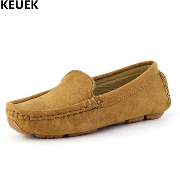 Nova Primavera / Outono Mocassins Crianças Sapatos Casuais Sapatos Da Criança Do Bebê Apartamentos Meninos Meninas de Couro Respirável Crianças Slip-On 019