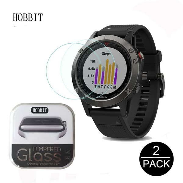 2Pack For Garmin Fenix 5 5S 0.3mm 2.5D 9H Clear Tempered Glass Screen Protector Smartwatch Scratch Resistant glass Film