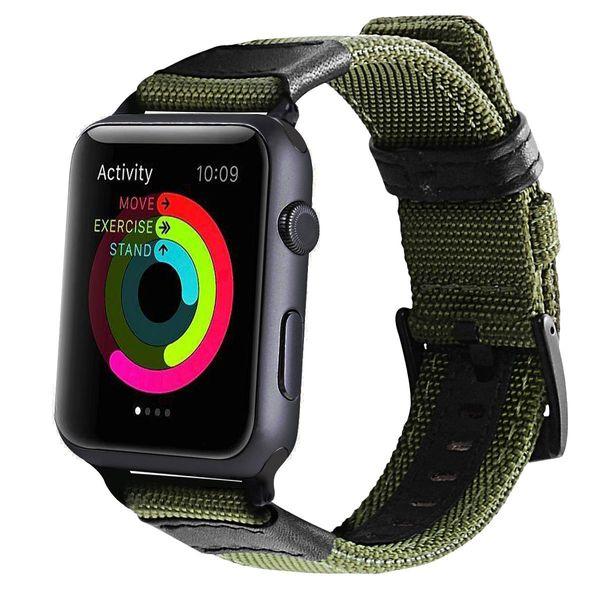 Für apple watch band strap armband gewebt nylonband für iwatch serie 1 2 3 band weichen stoff loop armband eingebauten adapter