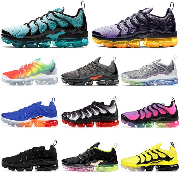 Nike Air max Vapormax TN plus  Almofada Tn Plus Mens Formadores Sunset Triple s Branco Preto Mulheres Outdoor Sports Shoe BETRUE Jogo Royal Metallic Sliver Designer sneakers