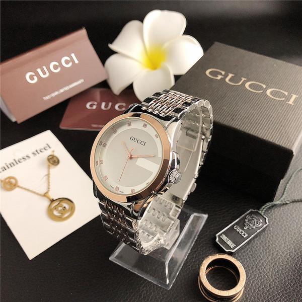 Mujeres hombres los relojes de manera relojes de alta calidad Realmente cuero blanco Partido relojes de cuarzo reloj de pulsera Negro Rojo Envío gratis M110530
