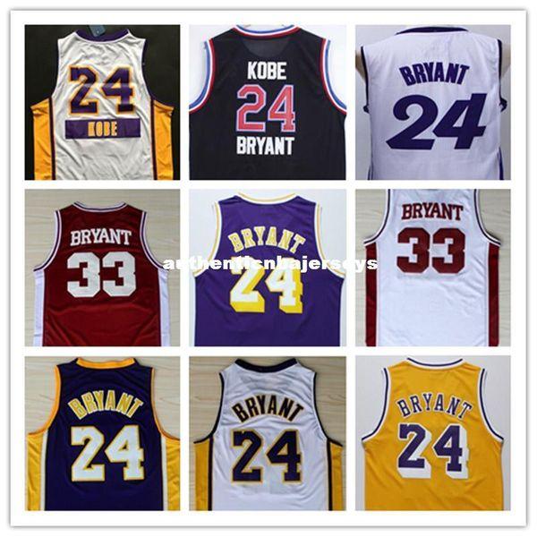 kb 24 Basketball Jersey,Stitched Mens New KB 33 Jersey Black Purple White Gray Yellow Jersey Size:S-XXL Ncaa College