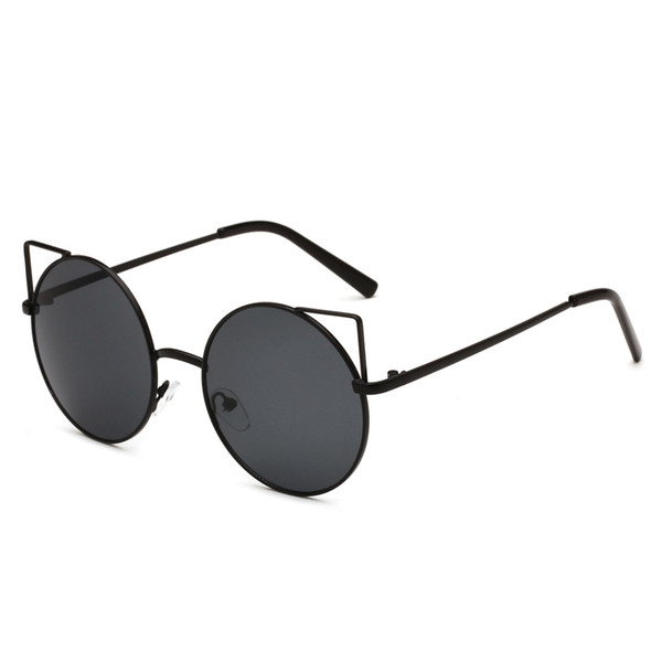 Cat eye sunglasses ladies fashion sunglasses 2019 new metal sunglasses