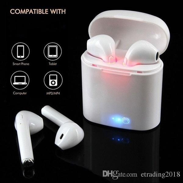 Hot Sell I7s TWS Mini Wireless Earphone Stereo Earbud Headset With Charging Box Mic For All Smart Phone