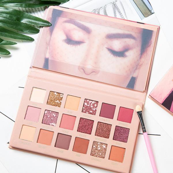 Высокое качество Новый ню макияж палитра hudamoji ню 18 цветов палитра теней для век матовое мерцание ПВХ пакет реальные фотографии бесплатная доставка 1 шт.