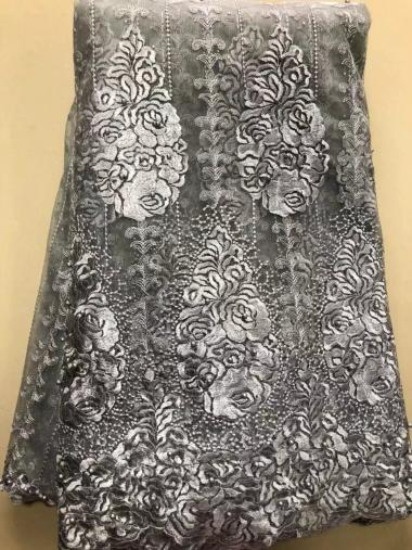 2019 neue Französisch Nigerian Schnürsenkel Stoff Hohe Qualität Tüll Afrikanische Schnürsenkel Stoff Hochzeit Afrikanische Französisch Tüll ELL3646 Silber