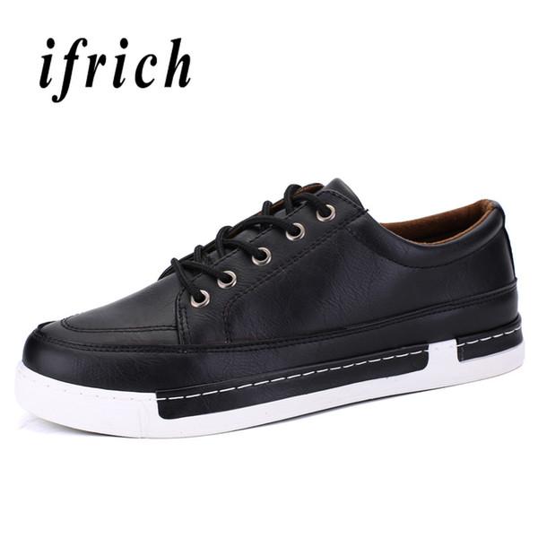 dab1a7693 Jovens Sapatos Casuais para o Menino Apartamentos Confortáveis Sapatos  Masculinos Wearable Não-Deslizamento Andando Homens Calçado Marrom Preto  Mens Moda