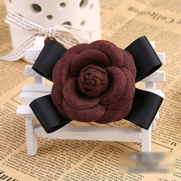 Brown Wool Bow