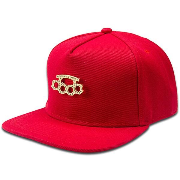 Le donne uomini Bling strass d'oro si riferiscono a Tigers Snapback Hat Gorras Golf Sport FIve Anelli Pugno Hip Hop Berretti da baseball