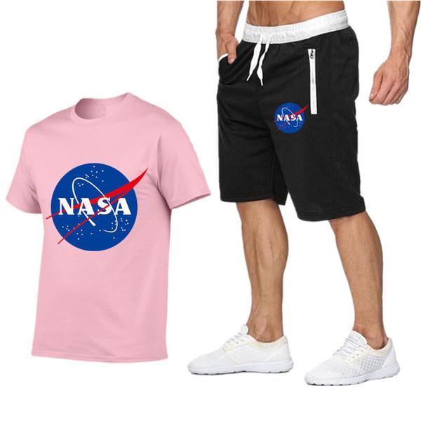 09713 Survêtements pour hommes série Nasa convient aux pantalons de plage pour hommes shorts décontractés + pantalons de sport pour t-shirts en Europe et en Amérique