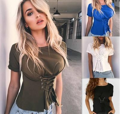 Girls fashion casual T - shirt, band slim T - shirt, short coat of many colors to choose, round collar tops