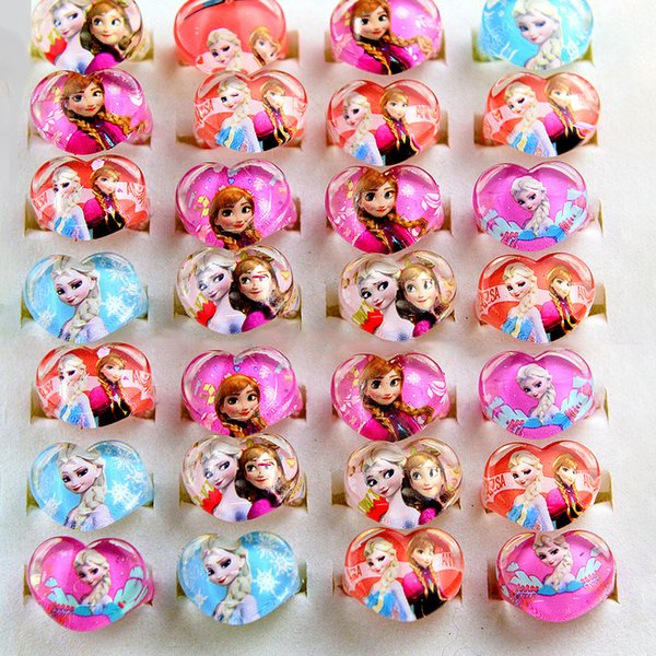 Frozen Party Princess Children Ring Accessories Birthday Party Decorations Kids Gift Birthday Kids Favor Luau Party Decorations Luau Party Favors From