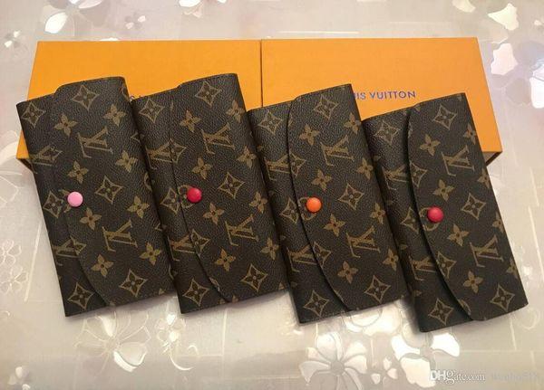 preço de fábrica Atacado fundos vermelhos titular do cartão senhora carteira longa multicolor bolsa da moeda quente caixa original bolso flor zipper mulheres classis