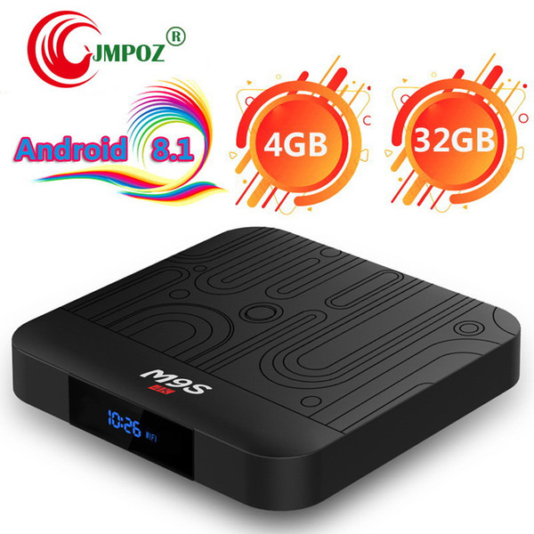 M9S J1 Android 8.1 TV Box Rockchip RK3328 4GB 32GB 1080P H.265 Google Player Store Netflix Youtube 4K UHD video streaming Media Player