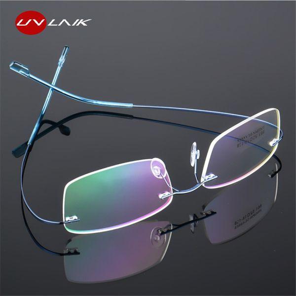 Оптово-очки Frames Женщина Мужчины Гибкая Оптическое Frame Предписание Spectacle Безрамных очков для глаз очки