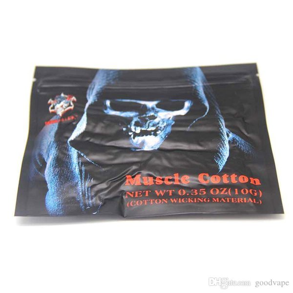 100% Original authentische Muscle Cotton für RBA / RDA / RTA Rebuildable Zerstäuber VS Dornen Dämpfe Wahl Qualle Koh Gen DO Kendo Vape DHL frei