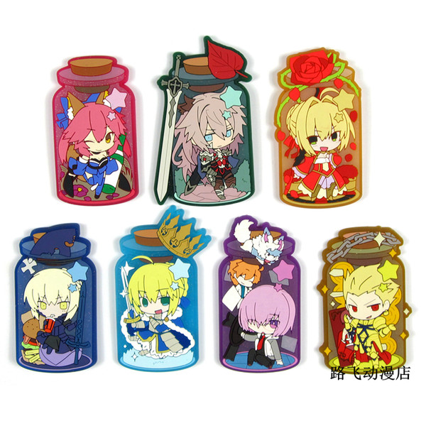 2018 New Arrival Fate stay night Original Japanese anime figureSilicone sweet smell key chain Anime rubber