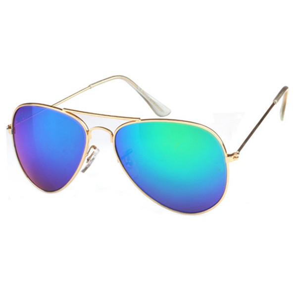 Novos óculos de sol das mulheres dos homens Marca quadro Designer de metal Revestimento UV400 Vintage Goggle Unisex Pilot óculos de sol com caixa de varejo e casos