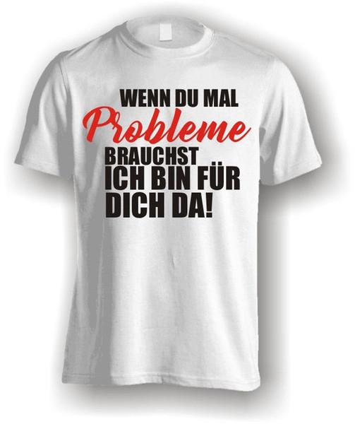 T-Shirt Funshirt Engraçado Slogan Engraçado Impresso Camisa Problemas dos homens medo cosplay liverpool