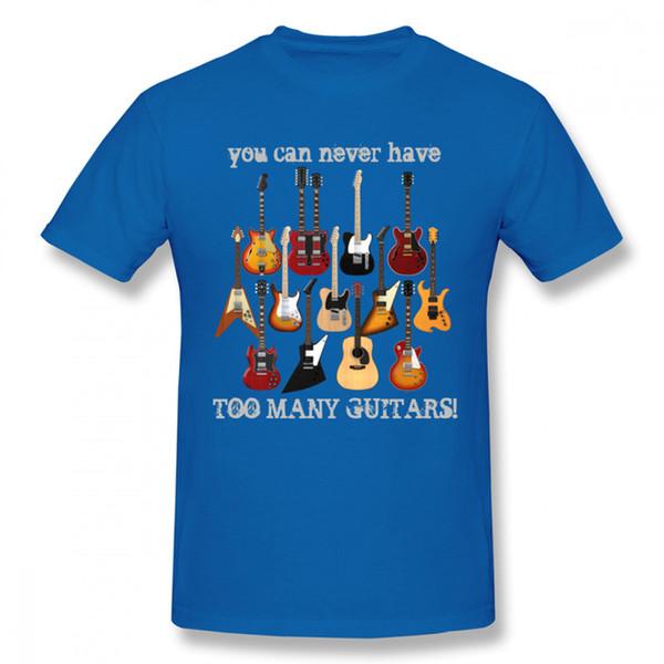 2019 T-shirt novo dos homens Moda guitarra elétrica camiseta Male Big Size Estilo música camisetas