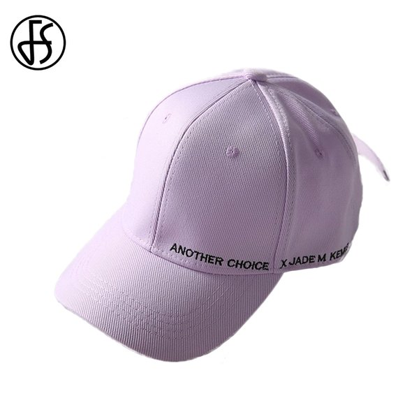86ff39a6829f5f FS New Sun Hats Baseball Cap Men Women Summer Snapback Hat Hip Hop Korean  Streetwear Style Dad Caps Cotton Purple Beach Hat 2019
