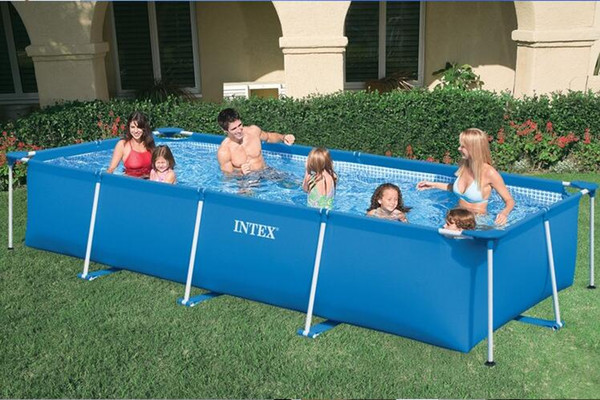2019 INTEX 2827258981 Rectangular Frame Swimming Pool Pipe Rack Pond Large  Swimming Pool Villa Size 300*200*75cm With Filter Pump From Wowsky, $666.93  ...