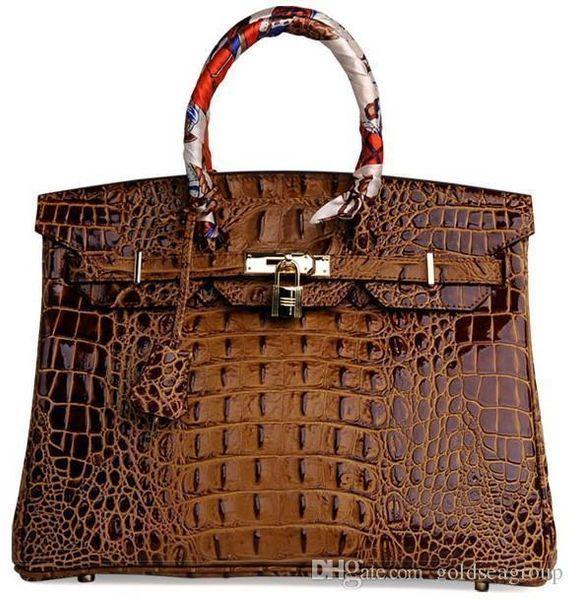 Crocodile Shoulder Bags Emboss Ostrich Wholesale Bride Women Handbag Tote Lady Purse Au Uk Francetogo Genuine Leather Bag Paris Us Eur