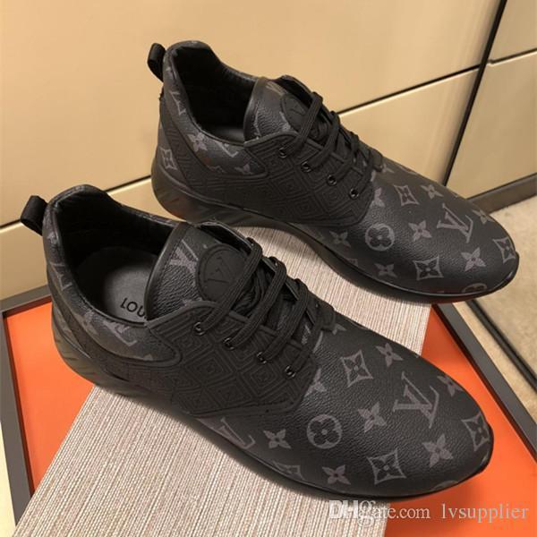2019 Мужская спортивная обувь новый дизайн из натуральной кожи лучшие качества пло
