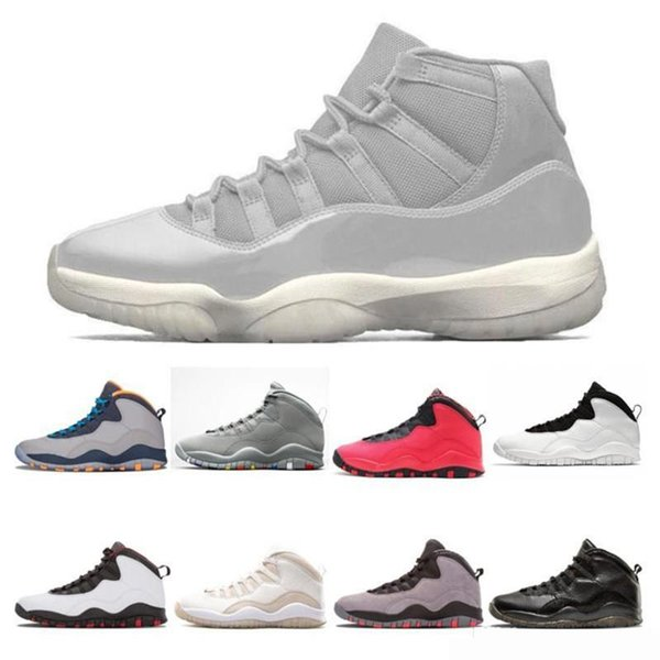 Nova 11 s Mens Sapatos de basquete CAP E VALE concord 45 Cool Gray ROSE OURO 11 homens mulheres de moda de luxo das mulheres dos homens sandálias de grife sapatos