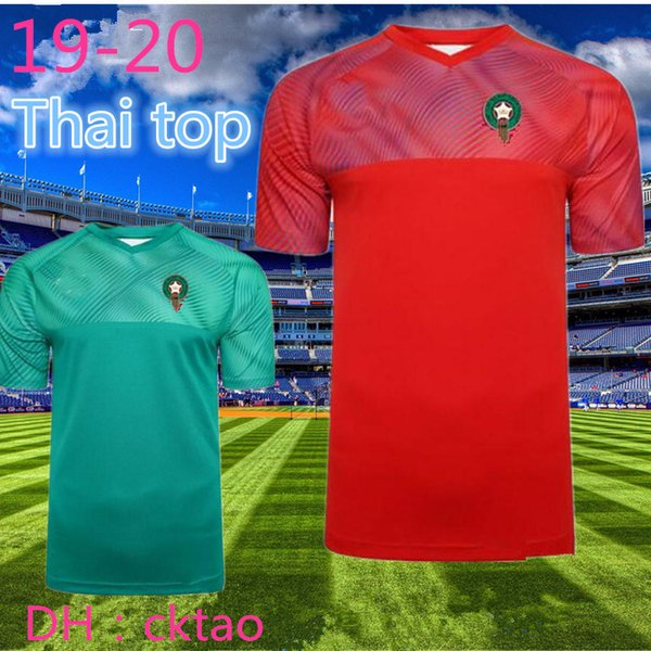 top popular Thai top 2020 European Morocco soccer jerseys 19 20 Maillot de foot ZIYECH BOUTAIB Camiseta de futbol BOUSSOUFA EL AHMADI football shirt 2020