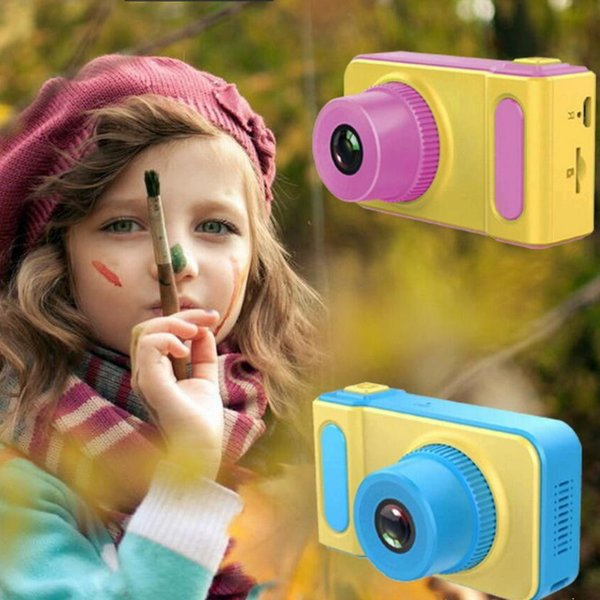 Digital Camera for Kids Fun Stickers Portable Compact Cartoon Design DIY Video Effects Kids Camera Puzzle Games for Girls/Boys' Gift