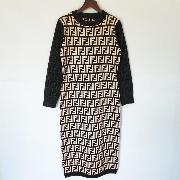 Lettera nero di trasporto 2019 Autunno d'argento / Stampa abiti pista di Brand donne stile stessi abiti delle donne di autunno 120816