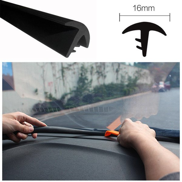 Rubber Soundproof Anti-dust Seal Strip For Auto Car Dashboard Windshield 1.6M