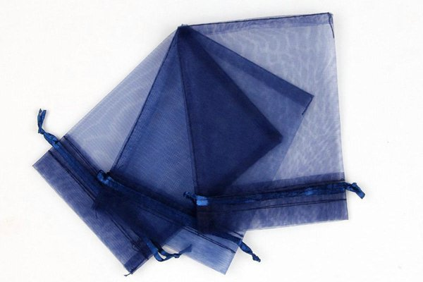 Hot Sales ! 100pcs Navy blue Organza Wedding Party Favor Gift Candy Sheer Bags Jewelry Pouch