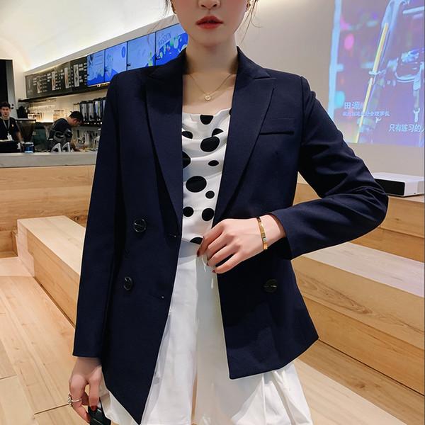Ladies paletó nova versão moda outono Fêmea magro tamanho grande manga longa pequena paletó casuais 2019