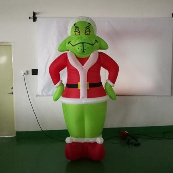 2019 Free Chipping Grinch Mascot Inflatable In Your Gardon Christmas Yard Decoration 2 4m High Quality From Yolloyinflatable 122 38 Dhgate Com