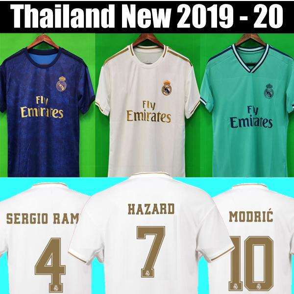 Thailand 18 19 20 HAZARD Real madrid 2019 2020 EA Sports Jerseys ISCO soccer jerseys MODRIC football shirt MEN camisetas