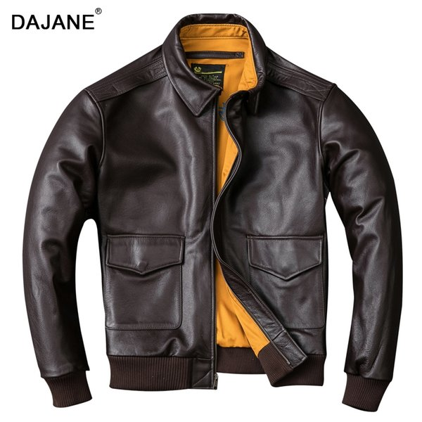 Special offer a clearance rule Head layer cowhide genuine leather genuine leather male A2 pilot jacket