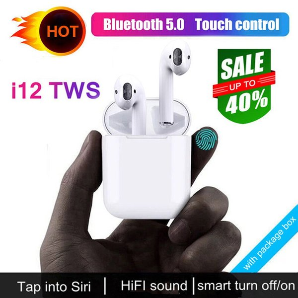2019 NEW I12 TWS I10 Bluetooth Earphone Wireless Earphones Touch Control Headset 3D Stereo Earbuds Charging Case I 10 I 12 Tws