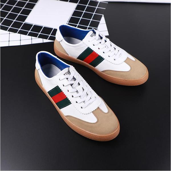 01150ffe 2019 nuevos zapatos casuales de cuero para hombre bajo salvaje versión  coreana de la tendencia de