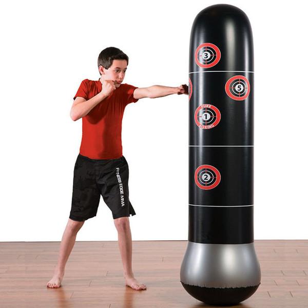 160//150cm Boxing Punching Bag Inflatable Free-Stand Tumbler Muay Thai Training